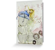Alice and the Teacups Greeting Card