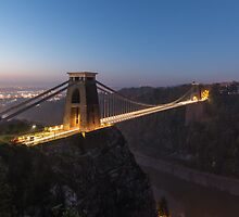 Daybreak @ the iconic Suspension Bridge by Gary Clark