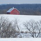 Barn on a Distant Hill by lorilee