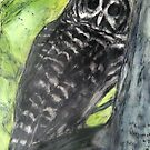 Owl Who Visits by Marcie Wolf-Hubbard