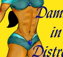 Jasmine Damsel in Distress with Text Sticker
