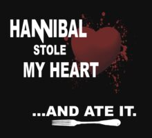Hannibal stole my heart.... and ate it. - version II by FandomizedRose