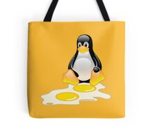 LINUX TUX PENGUIN TWINS SUNNYSIDE UP  Tote Bag