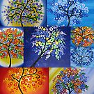 vibrant tree of life design  by cathyjacobs