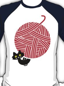 Happiness - cat and yarn T-Shirt