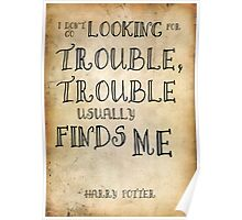 Harry Potter Trouble Quote Poster