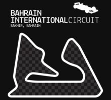 Sakhir, Bahrain 2014 Formula 1 Circuit (White Design Edition) by abbei