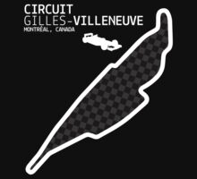 Montréal, Canada 2014 Formula 1 Circuit (White Design Edition) by abbei