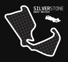 Silverstone, Great Britain 2014 Formula 1 Circuit (White Design Edition) by abbei