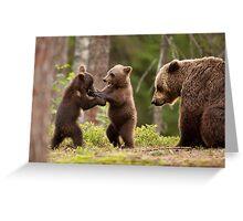 Wrestlers Greeting Card