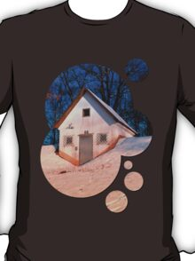 Small cottage in winter wonderland   architectural photography T-Shirt