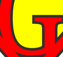 G letter in Superman style Sticker