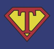T letter in Superman style by florintenica