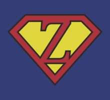 Z letter in Superman style by Stock Image Folio