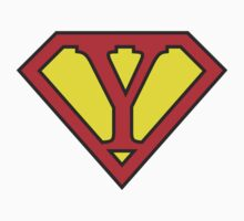 Y letter in Superman style Kids Clothes
