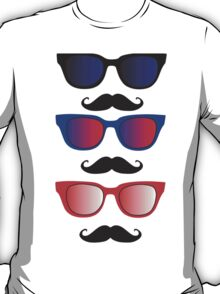 Glasses with Moustaches T-Shirt