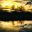 Flatford Mill Sunset (Vintage) by newbeltane