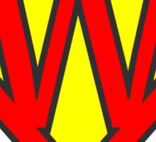 W letter in Superman style Sticker