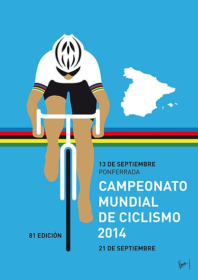 MY UCI Road World Championships MINIMAL POSTER 2014 by Chungkong