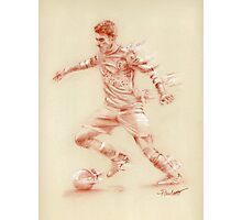 Aaron Ramsey - pastel sketch drawing Photographic Print