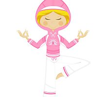 Cute Yoga Girl in Hooded Top by MurphyCreative