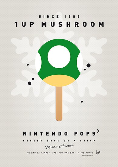 My NINTENDO ICE POP - 1 up Mushroom by Chungkong