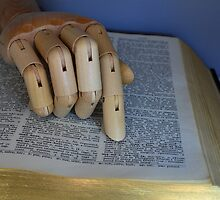 Manikin Hand Using A Dictionary - by Schoolhouse62