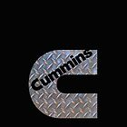 CUMMINS Diamond Plate logo on black by thatstickerguy