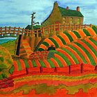 397 - SEATON SLUICE - 04 - DAVE EDWARDS - WATERCOLOUR - 2014 by BLYTHART