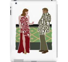 Emma Stone & Ryan Gosling from Gangster Squad Typography Design of Their Conversation iPad Case/Skin