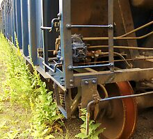 An Old Rusting Railroad Boxcar - by Schoolhouse62