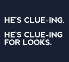 He's clue-ing. For looks.  by jenniferdare