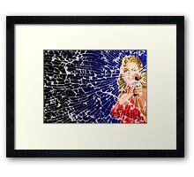 Shattered Again Widescreen Framed Print
