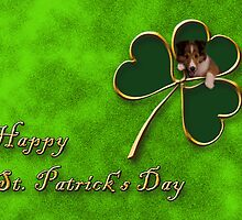 St. Patrick's Day Clover Sheltie Puppy by jkartlife