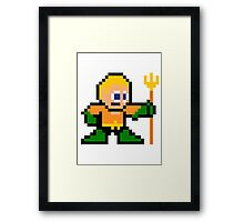 8-bit Aquaman Framed Print
