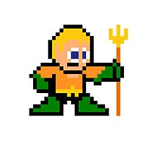 8-bit Aquaman Photographic Print