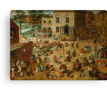 Pieter Bruegel the Elder - Children's Games Canvas Print