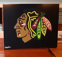Chicago Blackhawks  by Claire Hollander