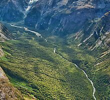 Valley near Milford Sound by S T