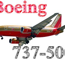 Southwest Airlines Boeing 737-500 w text by boogeyman