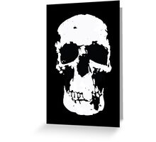 Sherlock Skull Wall Hanging On Black Greeting Card