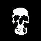 Sherlock Skull Wall Hanging On Black by Mark Walker