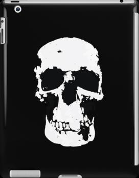 Sherlock Skull Wall Hanging On Black by Mark Walker
