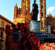 Palermo Cathedral with Santa Rosalia. Sicily, Italy by Igor Pozdnyakov