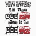 What happens in the VW BUS stays. RED version by thatstickerguy