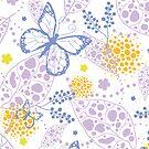 Butterfly garden pattern by oksancia