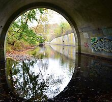 Graffiti under a bridge - by Schoolhouse62