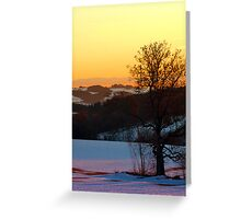 Colorful winter wonderland sundown V | landscape photography Greeting Card