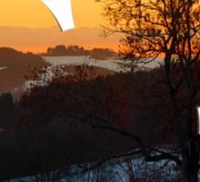 Colorful winter wonderland sundown V | landscape photography Sticker