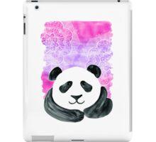 Lazy Panda on Pink & Purple iPad Case/Skin